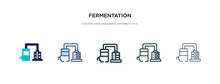 Fermentation Icon In Different...