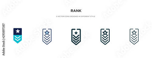 Cuadros en Lienzo rank icon in different style vector illustration
