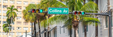 Street Sign Of Famous Collins ...