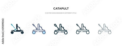 Fotografie, Tablou catapult icon in different style vector illustration