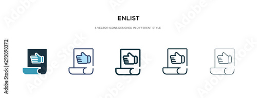 Photo  enlist icon in different style vector illustration