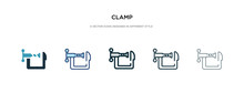 Clamp Icon In Different Style ...