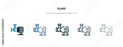 Cuadros en Lienzo pump icon in different style vector illustration