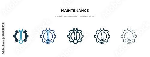 maintenance icon in different style vector illustration Fototapeta