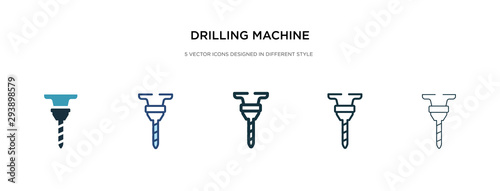 Obraz drilling machine icon in different style vector illustration. two colored and black drilling machine vector icons designed in filled, outline, line and stroke style can be used for web, mobile, ui - fototapety do salonu