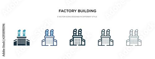 Fotografie, Tablou factory building icon in different style vector illustration
