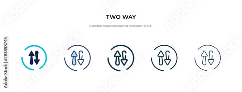 two way icon in different style vector illustration Tapéta, Fotótapéta