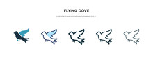 Flying Dove Icon In Different ...