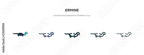 Fotografie, Obraz ermine icon in different style vector illustration