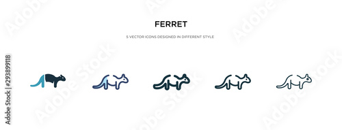 ferret icon in different style vector illustration Fototapet