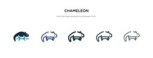 Chameleon Icon In Different St...