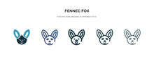 Fennec Fox Icon In Different S...