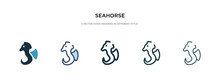 Seahorse Icon In Different Sty...