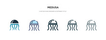 Medusa Icon In Different Style...