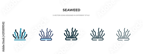 seaweed icon in different style vector illustration Fototapet