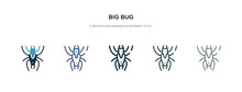 Big Bug Icon In Different Styl...