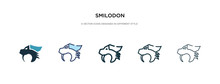 Smilodon Icon In Different Sty...