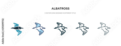 Fotografia, Obraz  albatross icon in different style vector illustration