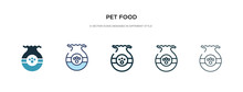 Pet Food Icon In Different Sty...