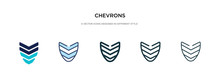 Chevrons Icon In Different Sty...