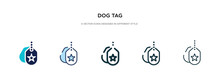 Dog Tag Icon In Different Styl...
