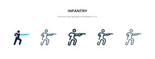 Infantry Icon In Different Sty...