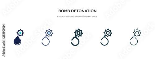 bomb detonation icon in different style vector illustration Fototapet