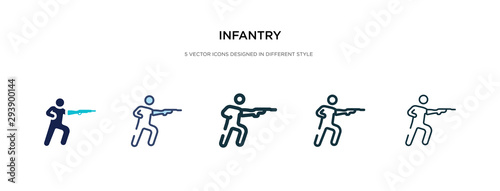 Fotomural  infantry icon in different style vector illustration