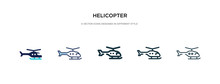Helicopter Icon In Different S...