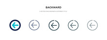 Backward Icon In Different Sty...