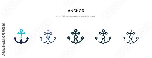 Fotografia anchor icon in different style vector illustration