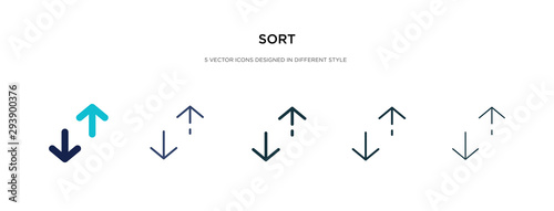 Fototapeta sort icon in different style vector illustration