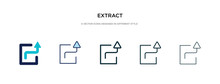 Extract Icon In Different Style Vector Illustration. Two Colored And Black Extract Vector Icons Designed In Filled, Outline, Line And Stroke Style Can Be Used For Web, Mobile, Ui