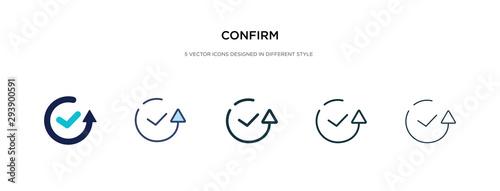 Fotografie, Obraz confirm icon in different style vector illustration