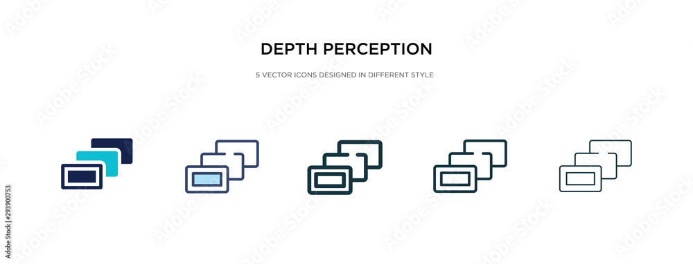 Fototapeta depth perception icon in different style vector illustration. two colored and black depth perception vector icons designed in filled, outline, line and stroke style can be used for web, mobile, ui