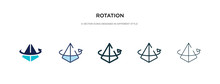 Rotation Icon In Different Sty...
