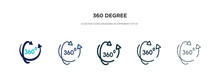 360 Degree Icon In Different S...