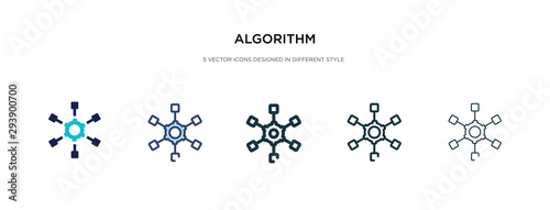 algorithm icon in different style vector illustration Canvas Print
