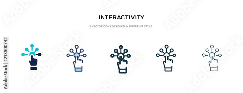 Cuadros en Lienzo interactivity icon in different style vector illustration