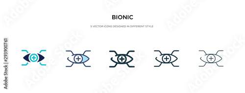 bionic icon in different style vector illustration Canvas Print