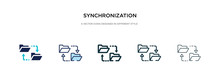 Synchronization Icon In Differ...