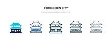 Forbidden City Icon In Differe...