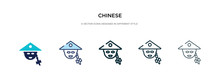Chinese Icon In Different Styl...