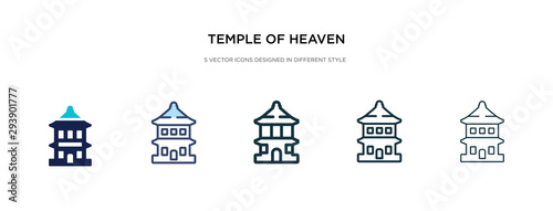 temple of heaven icon in different style vector illustration Canvas Print