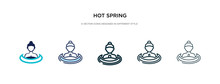 Hot Spring Icon In Different S...