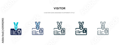 Fotomural visitor icon in different style vector illustration