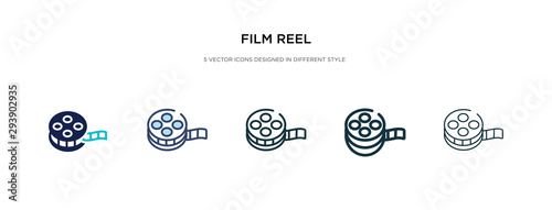 film reel icon in different style vector illustration Fototapet