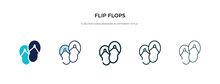 Flip Flops Icon In Different S...