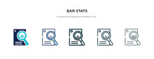 Bar Stats Icon In Different St...