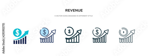 Cuadros en Lienzo revenue icon in different style vector illustration